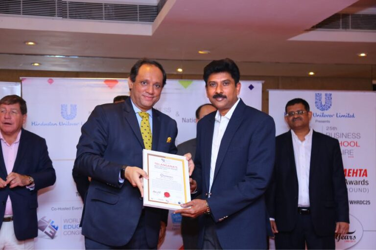 """Telangana's """"Best Employer Brand Award"""" from World HRD Congress for the Year 2017"""