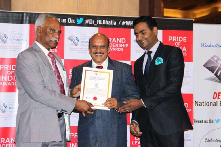 Best Employer Brand Award 2017 for Navabharath Sri J. Bikshamaiah Garu, General Manager – Sales